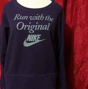 Purple Nike Sweater (Size LG)
